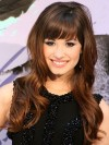 Demi Lovato Long Water Wave Capless Remy Human Hair Wigs amae216