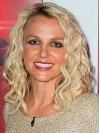 Britney Spears Shoulder Length Deep Curly Lace Front Synthetic Wigs amae251