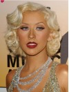 Christina Aguilera Medium Water Wave Capless Synthetic Wigs amae258