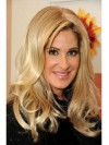 Fabulous Blonde Wavy Long Kim Zolciak Wigs amaep004