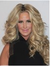 Real Remy Human Hair Middle Parting Wigs Kim Zolciak amaep009