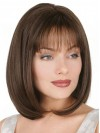 Straight Bob Short Brown Color Bobs Cut With Capless Wigs amag010
