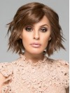 Curly Short Brown Hand Tied Natural Bob Wigs amag018