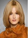 Bob Style Short Blonde Color Straight Style Wigs amag019