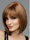 Brown Short Straight Bobs Hand Tied Wigs amag026