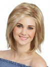 Straight Blonde Lace Front Cheap Bob Wigs amag038