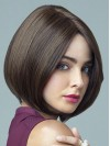 Straight Chin Length Brown Discount Bob Wigs amag048