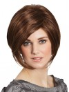 Auburn Straight Lace Front Short Bob Wigs amag049