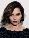 Short Emilia Clarke Straight Human Hair Full Lace Women Bob Wig amag057