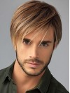 Huamn Hair Cropped Straight Capless Mens Wigs amam003