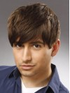 Cropped Straight Capless Human Hair Mens Wigs amam008