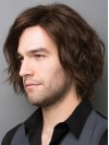 Short Water Wave Full Lace Human Hair Mens Wigs amam009