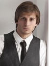 Synthetic Cropped Straight Capless Mens Wigs amam015