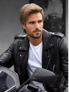 Synthetic Cropped Straight Lace Front Mens Wigs amam016