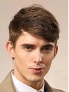 Synthetic Cropped Straight Capless Mens Wigs amam024