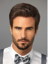 Handsome Gent Hairstyle Cropped Straight Top Mens Wigs amam029