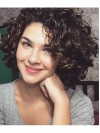 Fashion Short Deep Curly Capless Remy Human Hair Wig anaa301