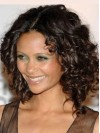 Charming Medium  Deep Curly Lace Front Remy Human Hair Wig anaa304