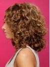 Classical Medium  Deep Curly Capless Remy Human Hair Wig anaa307
