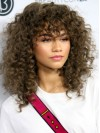 Alluring Long Deep Curly Capless Remy Human Hair Wig anaa309