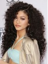 Beautiful Extra Long Yaki Curly Lace Front Remy Human Hair Wig anaa310
