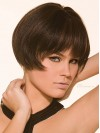 Smooth Short Straight Capless Remy Human Hair Wig wwa1711041