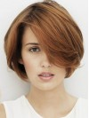 Modern Short Straight Capless Remy Human Hair Wig wwa1801013