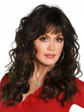 Marie Osmond Full Bang Human Hair Wig wwa1804032
